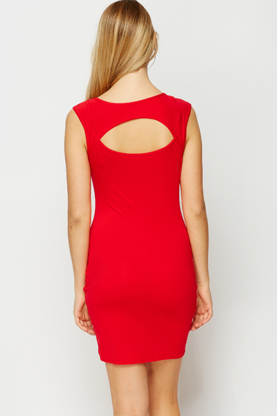 Cut Out Back Bodycon Dress