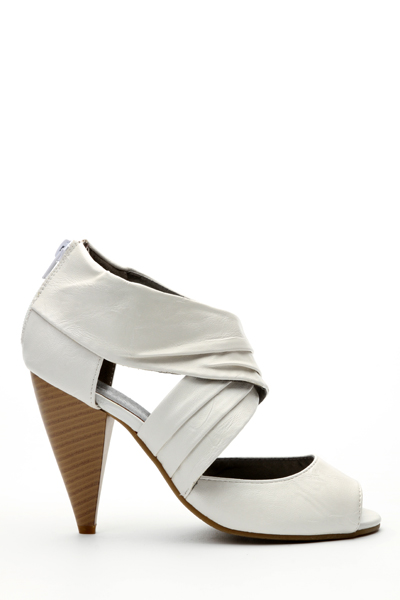 Cut Out Zip Back Heel Sandals