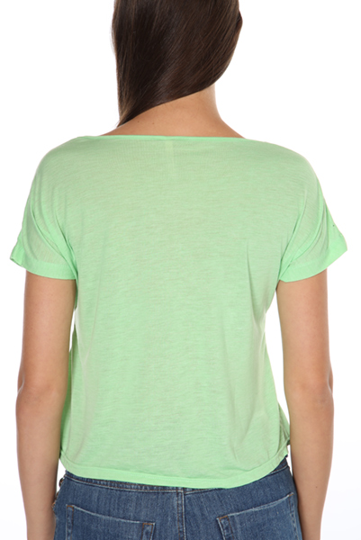 Colour Dipped & Cropped Thin T-Shirt