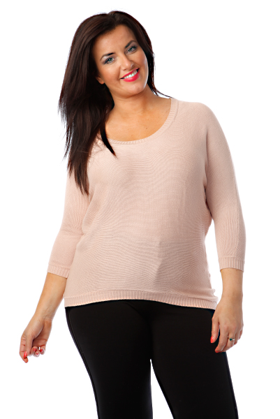 Fine Knit Batwing Pullover