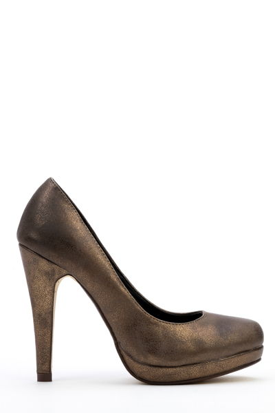 Bronze Court Shoes