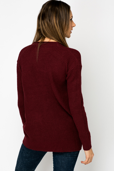 Perforated Boyfriend Cardigan