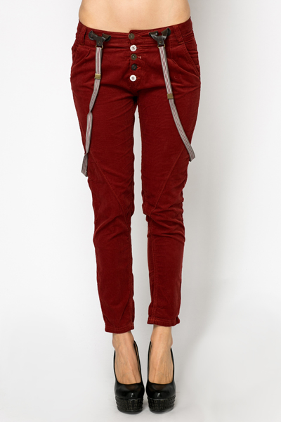 Cord Suspender Trousers