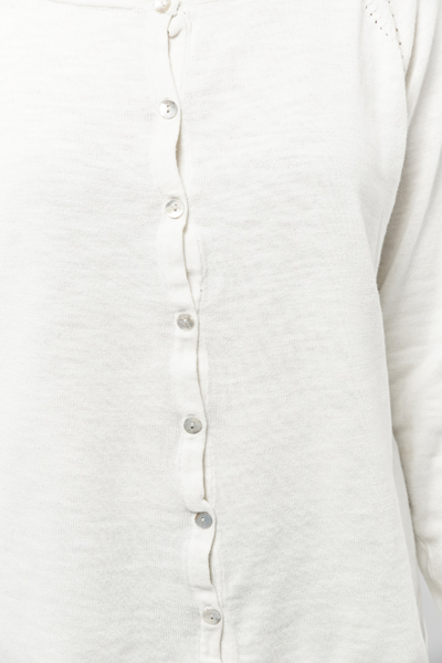 Button Front Cotton Cardigan