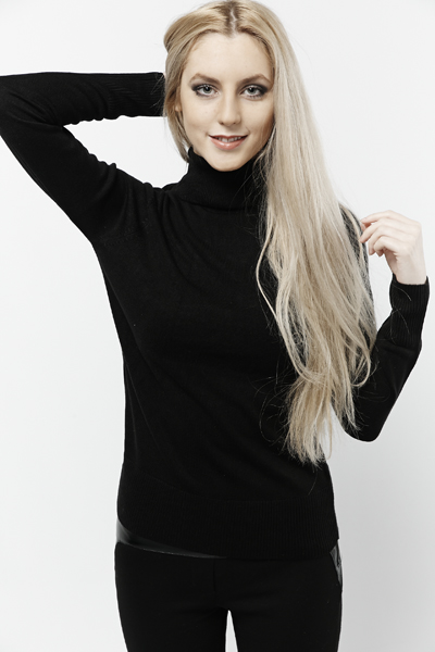 Roll Neck Casual Pullover