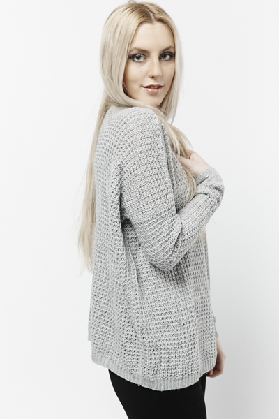 Perforated & Knitted Pullover
