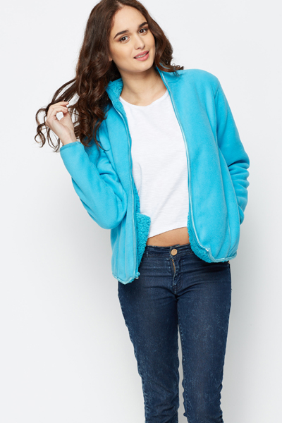 Fleeced Zip Jacket