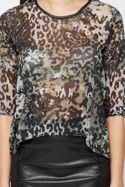d4fc3fadf3fd5 Camouflage Chiffon Blouse - Just £5