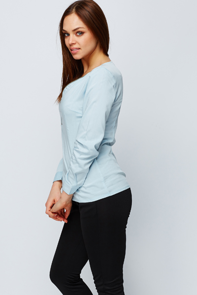 Zip Front Blouse