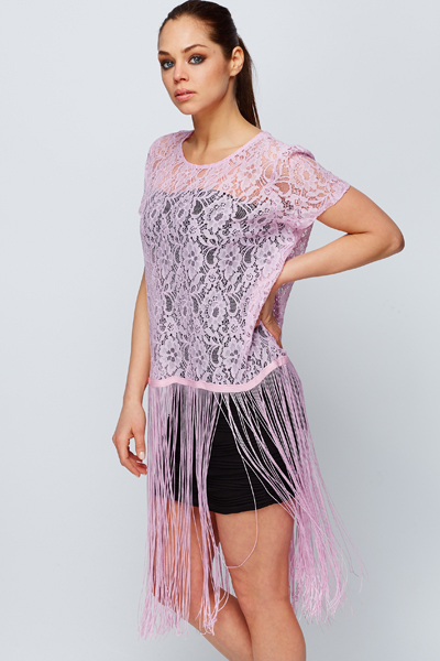 Tassled Lace Blouse