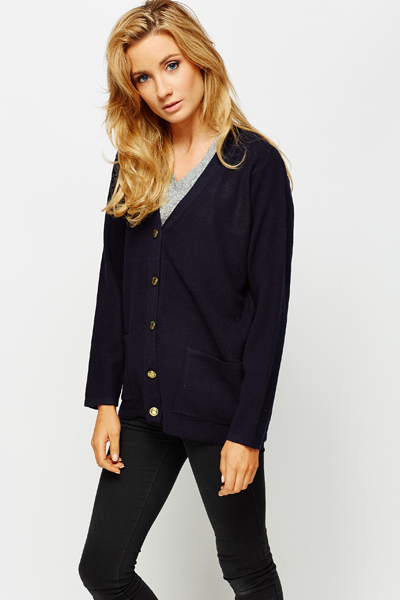 Gold Button Cardigan
