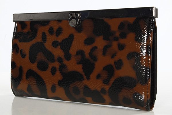 Large Bright Leopard Print Wallet