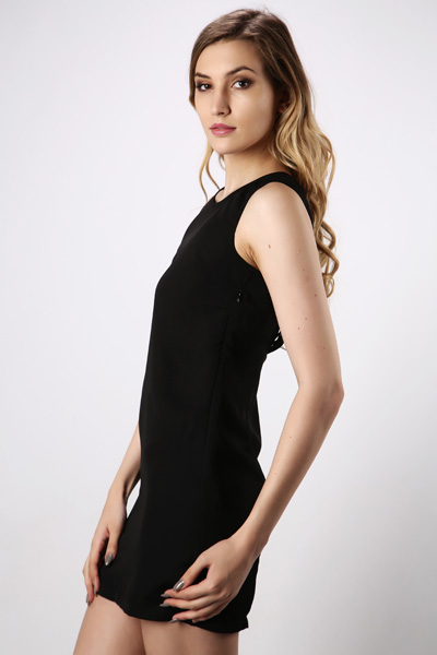 Shred Effect Back Dress