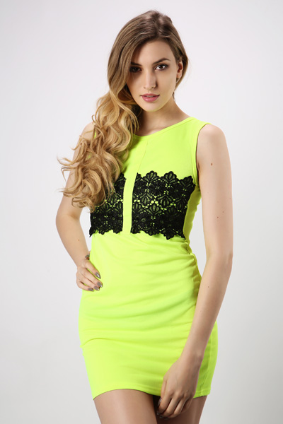 Floral Lace Front Dress