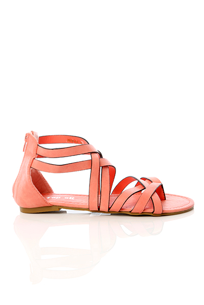 Multiple Crossed Straps Sandals