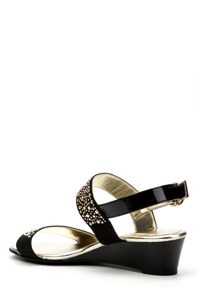Twin Studded Strap Sandals