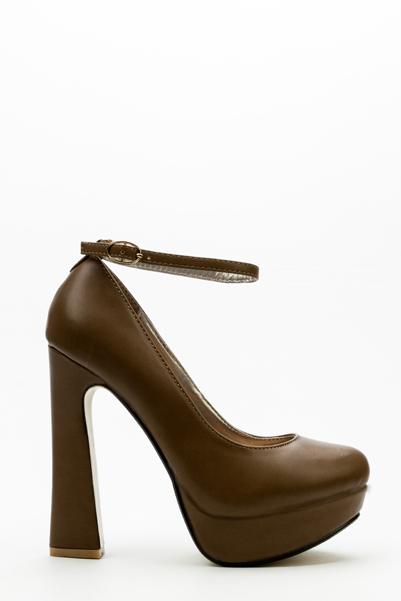 Ankle Strap Block Heels