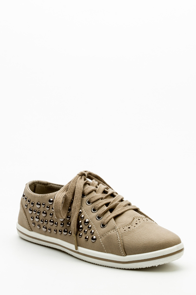 Studded Faux Leather Shoes