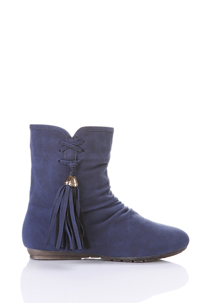Tassel Side Ruched Boots