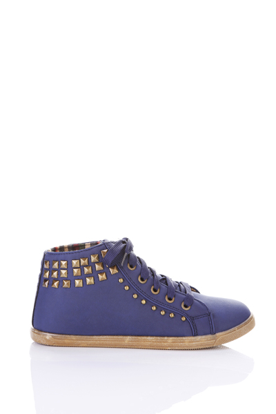 Studded Lace Up Trainers