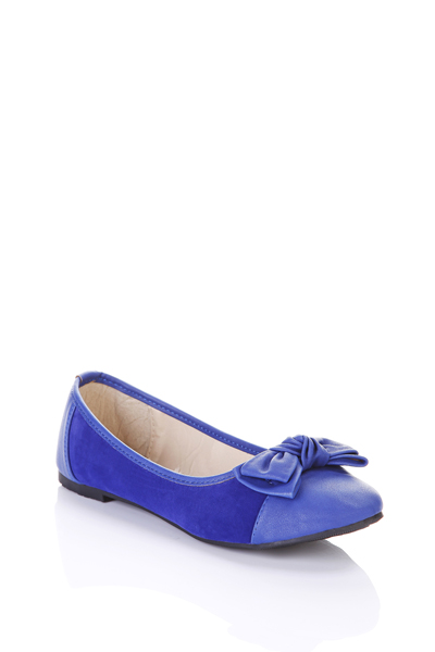 Twist Knot Bow Faux Leather Flats