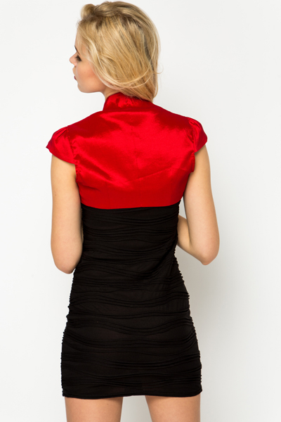 Pleat Shoulder Bolero