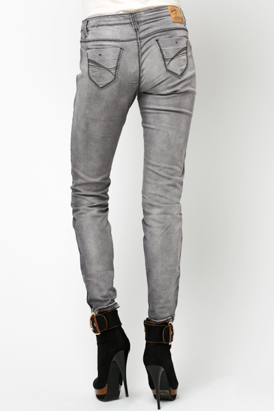 Zip Hem Denim Trousers