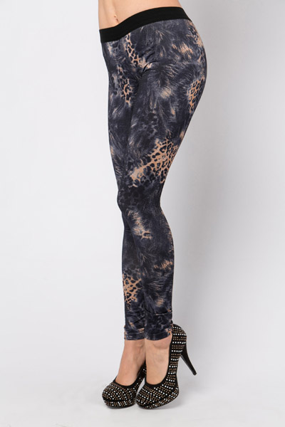 Brushed Animal Print Leggings