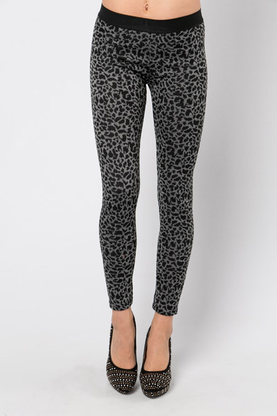Leopard Print Fleece Leggings