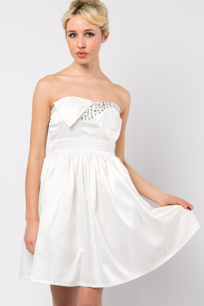 Embellished Trim Prom Dress