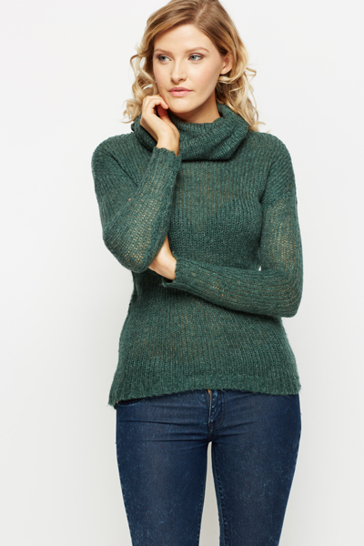 Roll Neck Cosy Knit Jumper