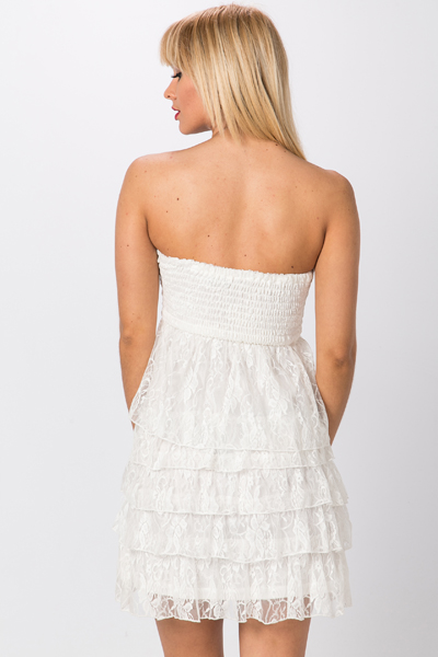 Bandeau Lace Tier Dress