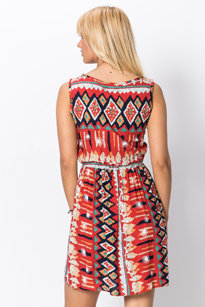 Colourful Tribal Skater Dress