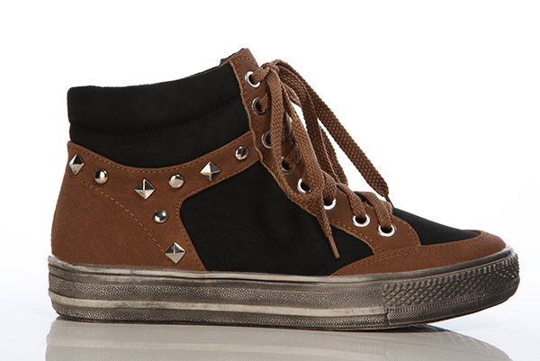 Studded Spectator Trainers