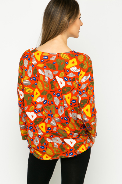 Fleece Slogan & Lip Print Tunic