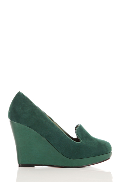 Velour Wedge Heel Shoes
