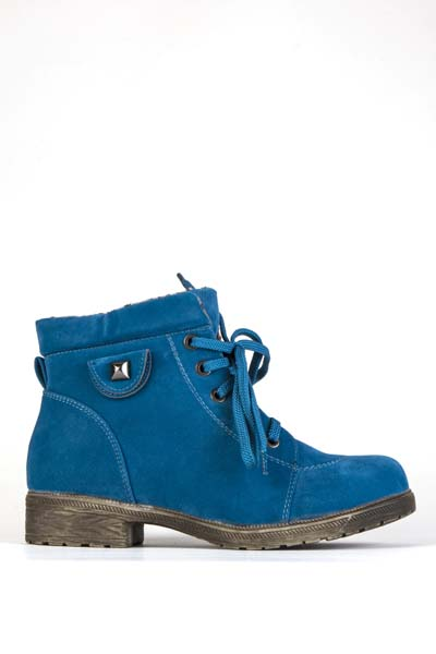 Suedette Stud Side Ankle Boots