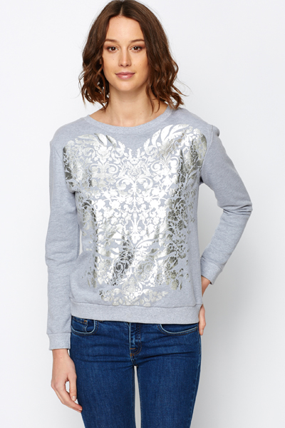 Metallic Ornate Jumper