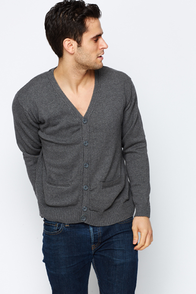 Thick Knit Button Front Cardigan