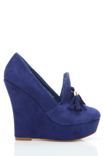 Suedette Tassel Ankle Platform Shoes