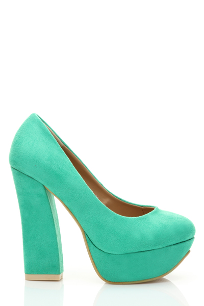 Velour Platform Heel Shoes