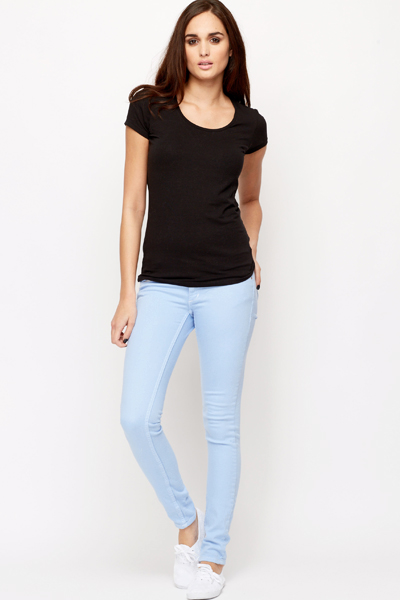 Cotton Blend Skinny Jeans