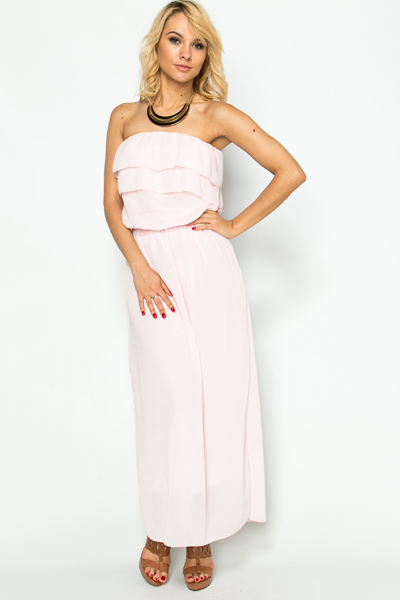 Frilled Top Maxi Dress