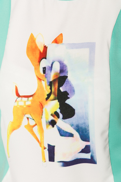 Watercolour Animal Sleeveless Top