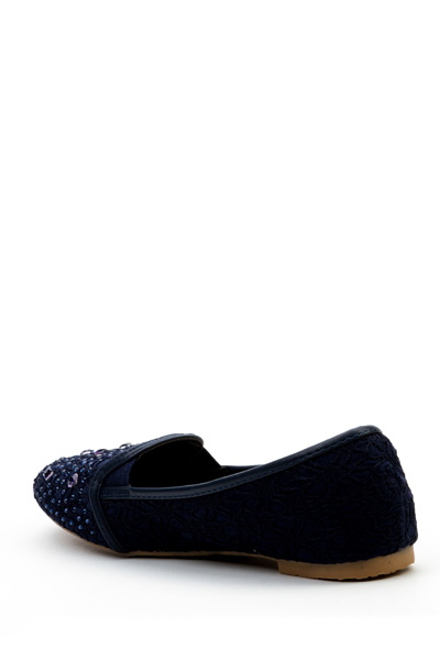 Faux Stone Slip On Flats