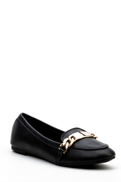 Chain Buckle Loafers