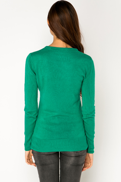 Soft Knit Round Neck Pullover