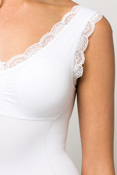Lace Trim Body Shape Vest
