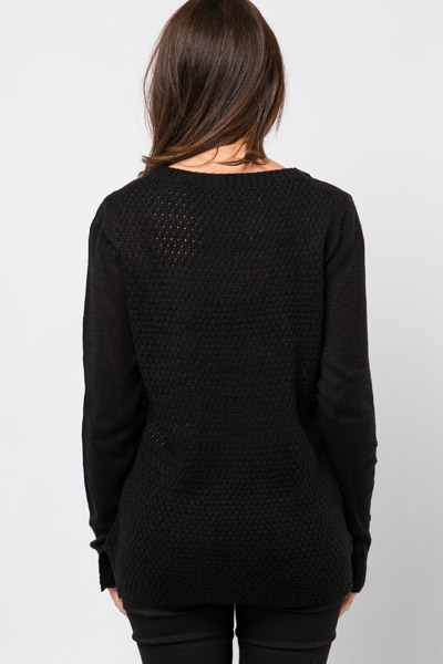Contrast Knit Pullover