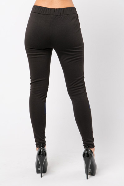 Two Tone Stripe Leggings